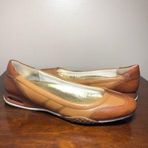 Cole Haan Nike Air tan ballet flats size 8